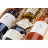 Coffret 2 Bouteilles de vin, 50 cl d'huile d'olive, 250 g d'olives | Coffret vin et huile d'olive